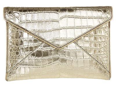Rebecca Minkoff Leo Clutch (Gold 3) Clutch Handbags