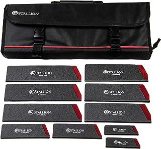 Stallion Professional - Bolsa para cuchillos con protectores de cuchillos (puños)