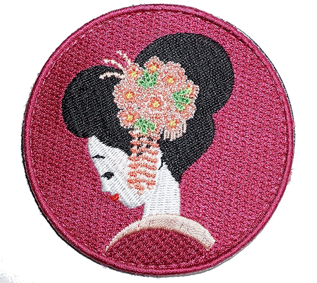 [Japan Import] 100% Embroidery Verclo Patches Geisya Ukiyo-e A0214 bkvc872320690911