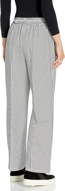 Nine West Pantalon jacquard en tricot vichy pour femme Noir/Lily