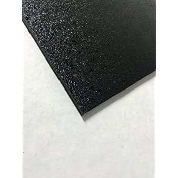 "ABS Black Plastic Sheet 0.125-1//8/"" x 36/"" x 36"" Textured 1 Side Vacuum Forming"