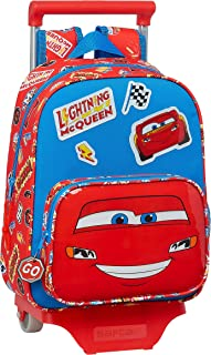 612111020 Mochila Infantil de Cars Mc Queen con Carro 705, 270x100x330mm