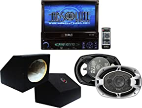 Absolute USA AVH4000PKG 7-Inch in-Dash TFT-LCD Monitor DVD Receiver and Speaker Combo Pack with Two 6 x 9 Inches Enclosure Boxes