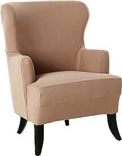 SureFit Stretch Morgan - Wing Chair Slipcover - Khaki