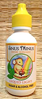Sinus Minus (2 oz Bottle) - Dry up Sinuses, Sinusitis, Nasal Inflammation Clearing, Allergy, Cold Season Support.