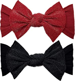 Baby Bling Bows 2 Pack - Baby to Little Girls Classic Knot Headbands