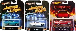 Hot Wheels Christine 2015 & American Graffiti Set - Chevy Impala & Ford Edsel 3 Car Retro Entertainment 2013 Die Cast Movie Vehicle Replica