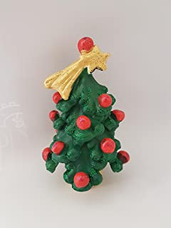 Albero di Natale in ceramica, alto cm 10