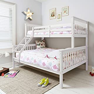 Triple cama en color blanco, Hanna, cama litera para ni&