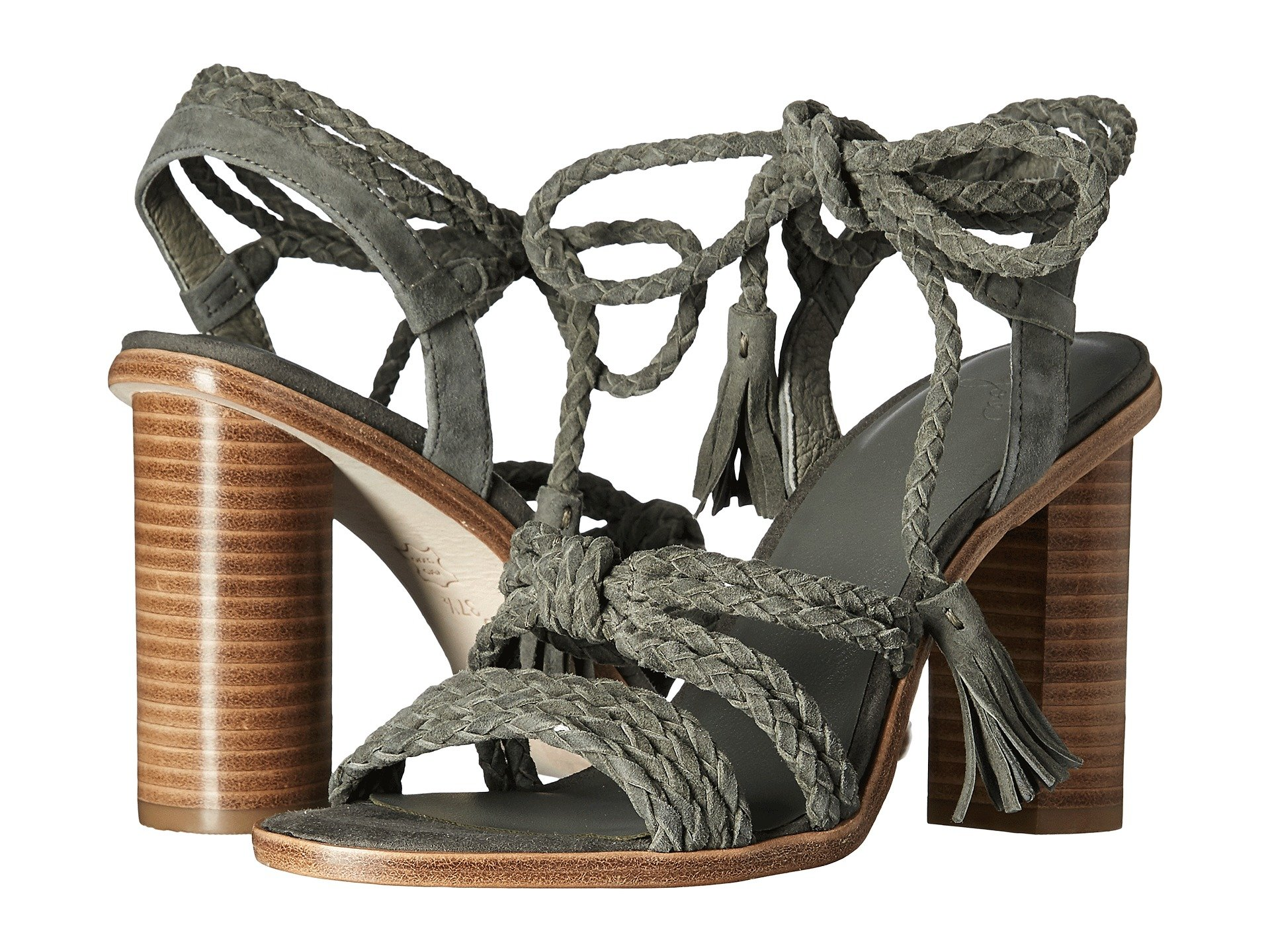 BANJI LEATHER HIGH HEEL SANDAL