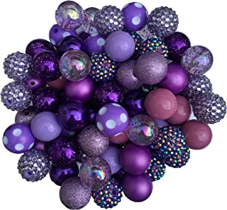 Best chunky purple bead necklace Reviews