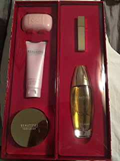 Estee Lauder Beautiful Ultimate Luxuries 5-pc Set: 3.4 oz & .17 oz Eau de Parfum Spray + 3.4 oz Perfumed Body Lotion + 1 oz Body Powder + 4 oz Soap