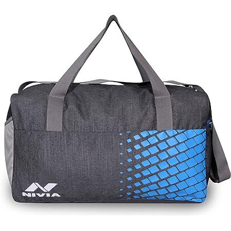NIVIA Sports Space-3 Bag JR Dark Grey-Sky Blue