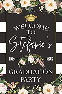 Boho Graduation Party Sign, Floral Grad Party, Bohemian Graduation Poster, Class of 2019, Personalized Welcome sign Graduation Party, Wall Decor, Handmade Party Supply, Size 36x24, 18x24