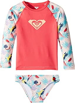 Roxy Kids - Vintage Tropical Long Sleeve Set (Toddler/Little Kids)