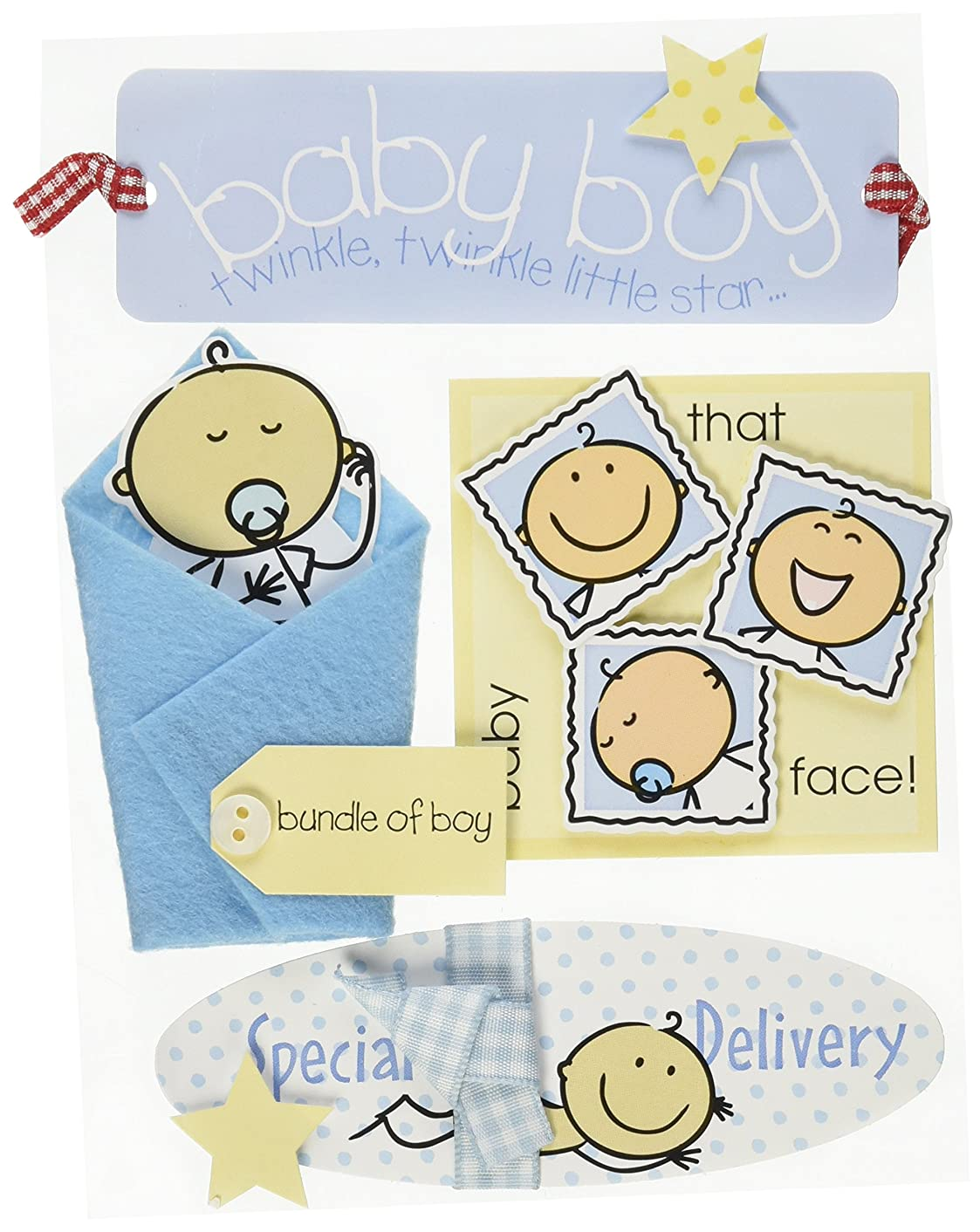 Me & My Big Ideas Soft Spoken Themed Embellishments-Baby Boy 2