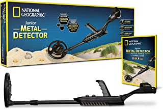 "NATIONAL GEOGRAPHIC Junior Metal Detector –Adjustable Metal Detector for Kids with 7.5"" Waterproof Dual Coil, Lightweight Design Great for Treasure Hunting Beginners"