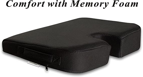 TravelMate Large Medium-Firm Wellness Seat Cushion - 17 x 13 x 3 inches