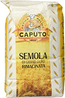 Molino Antimo Semolina Semola Flour, 1 Kilo bag , (Pack of 2)