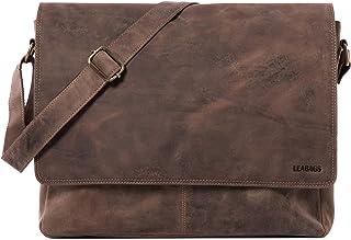 LEABAGS Acapulco Umhängetasche Aktentasche Laptoptasche 15 Zoll aus echtem Leder im Vintage Look