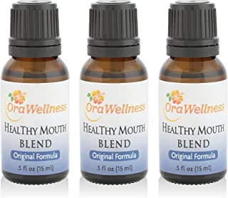 OraWellness Healthy Mouth Blend Tooth Oil, Organic Toothpaste & Mouthwash Alternative with Clove Oil Promotes Healthy Teeth & Gums, 3 Pack