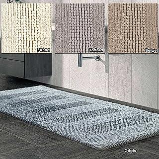 11c93f82af Centesimo Web Shop Tappeto Bagno in 3 Misure E 4 Colori 100% Cotone  Jacquard Antiscivolo