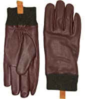 UGG - Casual Leather Smart Gloves w/ Knit Cuff