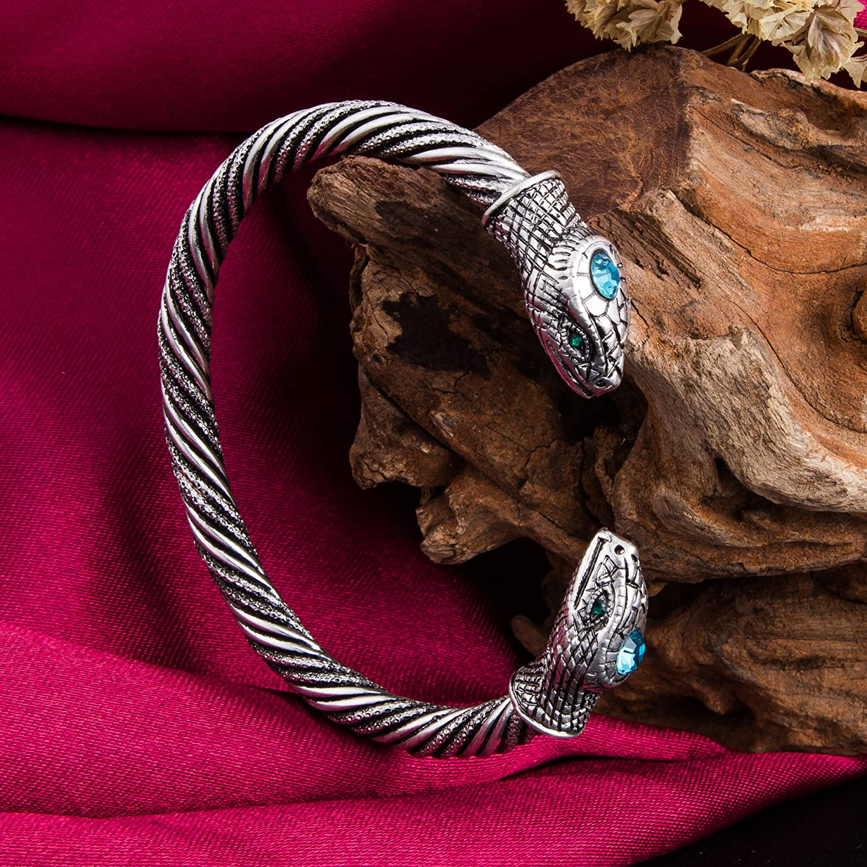 per uomo e donna Skyrim Jormungandr Bracciale vintage con serpente stile indiano