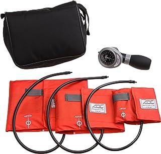 American Diagnostic 731-OR Multikuf - Kit de 3 puños EMT con 804 estuche de nailon negro con cremallera y espumanómetro aneroide para palma, color naranja