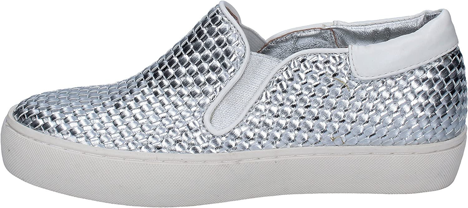SARA LOPEZ Loafers-shoes Womens Leather Silver