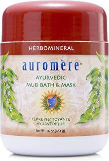 Auromere Ayurvedic Indian Healing Clay Mask for Natural Skin Care - Exfoliating Body Scrub and Facial Mask for Skin and Fa...