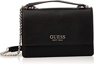 Guess Womens Cross-Body Handbag, Black - VG767221