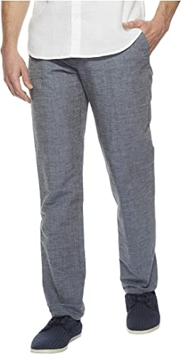 Slim Fit End-on-End Linen Suit Pant