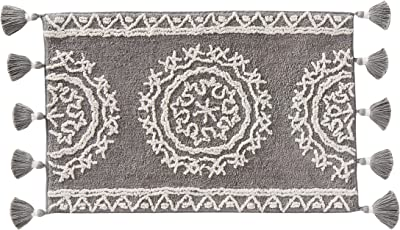 "SKL Home by Saturday Knight Ltd. Medallia Rug, U1379000850107, Cotton, Gray, 24"" x 40"""