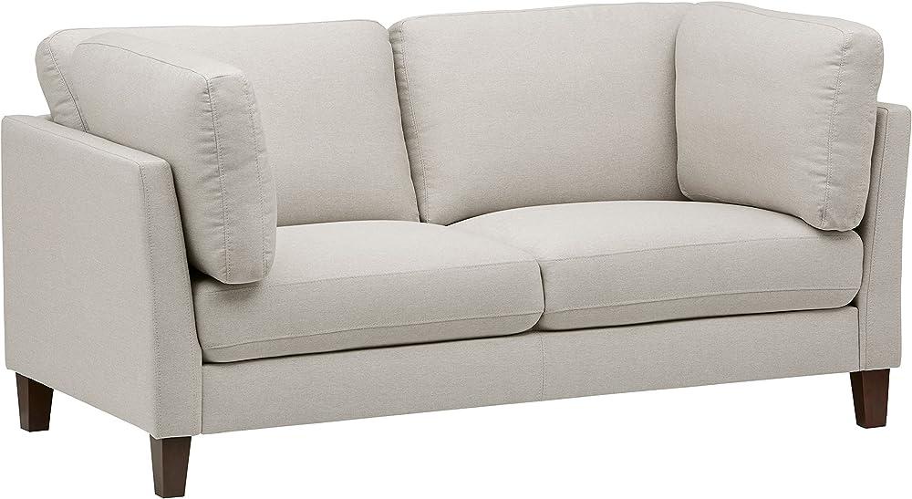 Marchio amazon,rivet, divano modello midtown, con cuscini rimovibili, stile moderno, larghezza 174 cm AS-6058-L-Optica