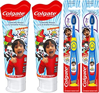 Colgate Kids Toothpaste and Toothbrush Set, Ryan's World