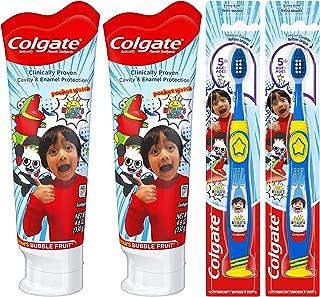 Colgate Kids Toothpaste and Toothbrush Set, Ryan's World