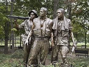 Photo Metallic Photography Poster - Vietnam Memorial Soldiers by Frederick Hart Washington D.C. 18