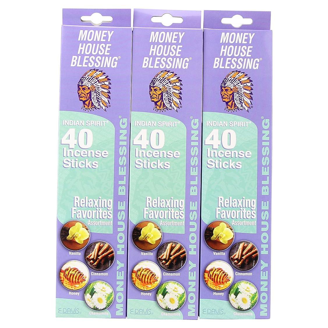 シプリー困惑コンサートMoney House Blessing自然Incense Sticks (パックof 40?Sticks) (3パック)
