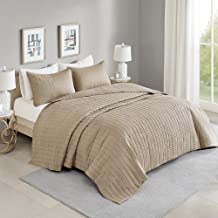 Comfort Spaces Kienna Quilt Coverlet Bedspread Ultra Soft Hypoallergenic All Season Lightweight Filling Stitched Bedding S...