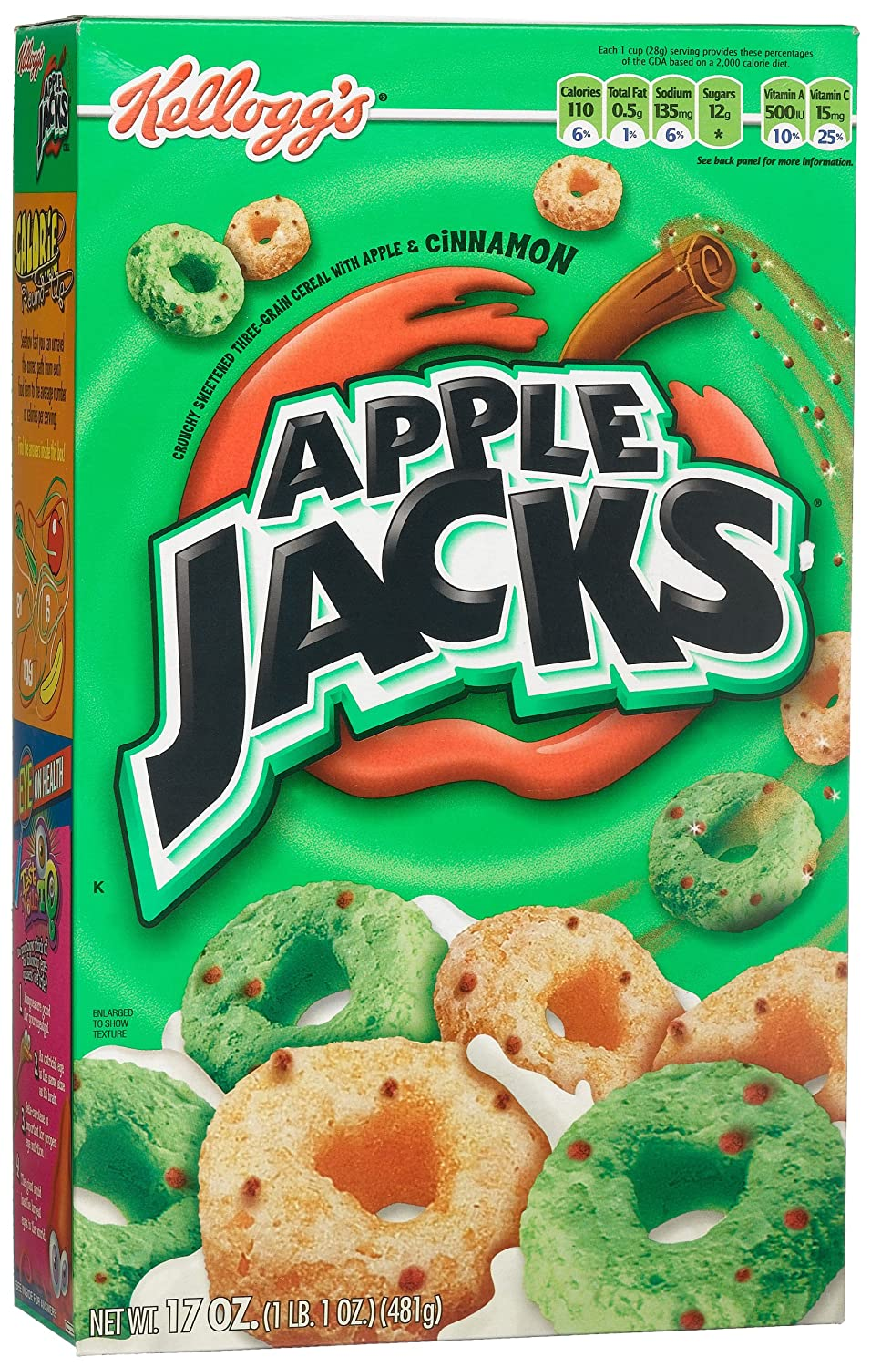 Apple Jacks Cereal, 17-Ounce Boxes (Pack of 4)