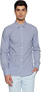 Alcott Men's Checkered Slim Fit Casual Shirt