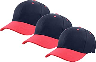 Gelante Plain Baseball Cap Adjustable Back Strap 3 PC