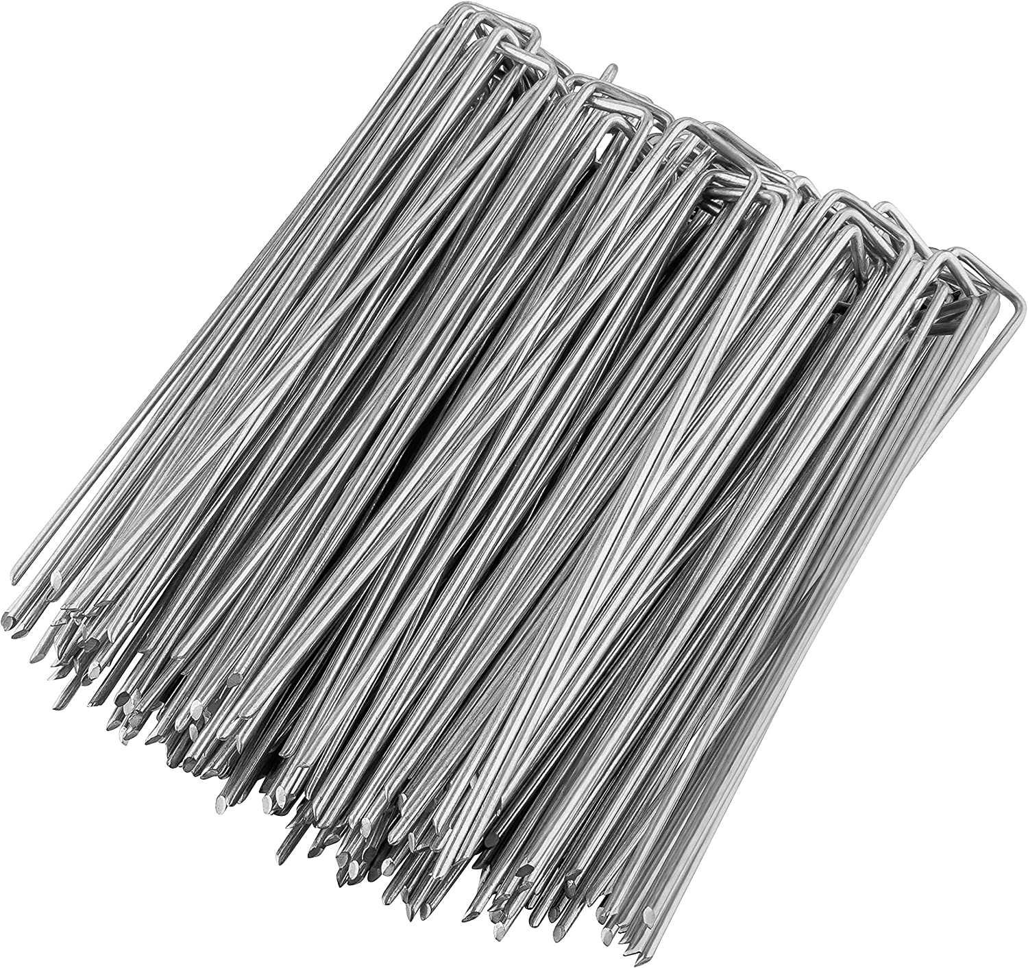 GardenMate Pack of 50 x 250mm multi-purpose steel Garden Securing Pegs Made of 4.1mm thick galvanised steel wire Ideal for hard floors