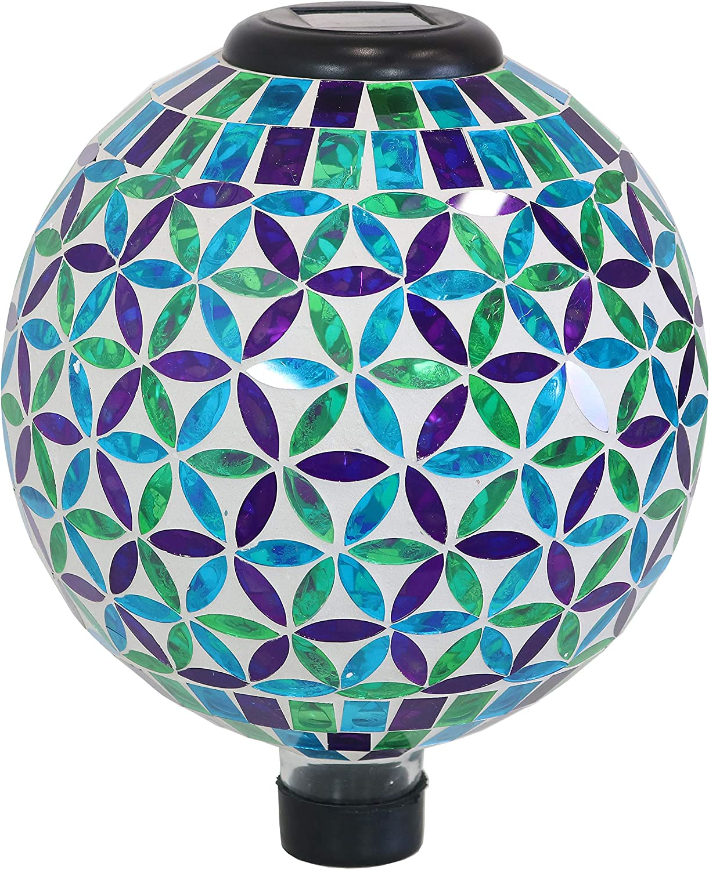 Sunnydaze Glass Mosaic Gazing 2021 autumn and winter new Globe Light Superlatite with Blue Cool Solar