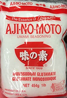 16oz Ajinomoto Umami Seasoning, MSG Monosodium Glutamate, Made in USA, Naturally Delicious (One Bag per order)