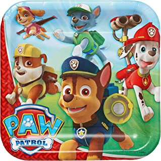 American Greetings Paw Patrol Party Supplies Paper Dinner Plates, 8-Count