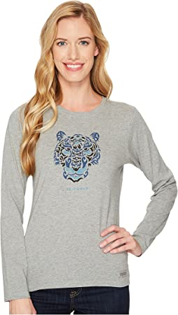 Life is Good - Tiger Face Long Sleeve Crusher Tee