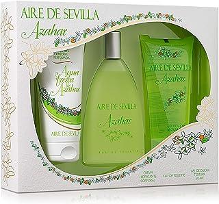Aire de Sevilla Set de Belleza Edición Azahar - Crema Hidratante Corporal Eau de Toilette Gel Exfoliante