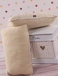 2 Pillows/Dos Almohadas 45 x 75cm Pura Lana Merina